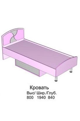 Изображение Детская Пинк Кровать